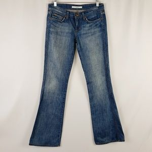 Joe's Miles Skinny Flare Distressed Jean's